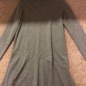 Gray mini dress.